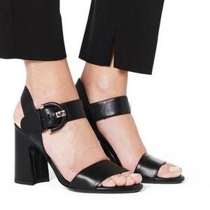 "AQUATALIA ""Naya"" Leather Slingback Heels SZ 8.5"